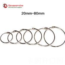 Promotion Price 10pcs Lot Metal Book Rings Binder Ring Hinged Keychain Album Ring Scrapbook Craft Photo