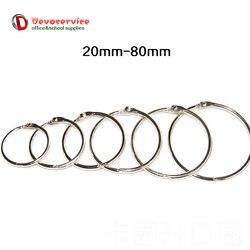 Promotion price 10pcs lot metal book rings binder ring hinged keychain album ring scrapbook craft photo.jpg 250x250