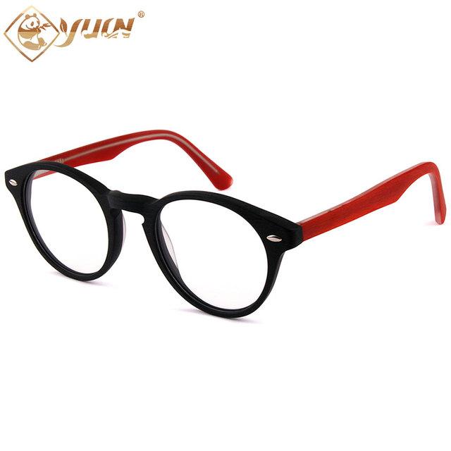 Clássico Retro rodada óculos óculos óculos de acetato de quadros das mulheres dos homens do vintage designer de marca gafas F1141