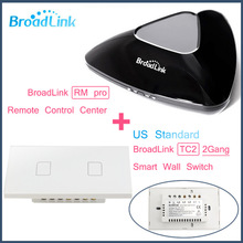 Broadlink RM PRO+2Gang TC2 US Customary,Clever WIFI+IR+RF Management+ON/OFF Contact distant Wall Lamp Change,Good Residence Automation