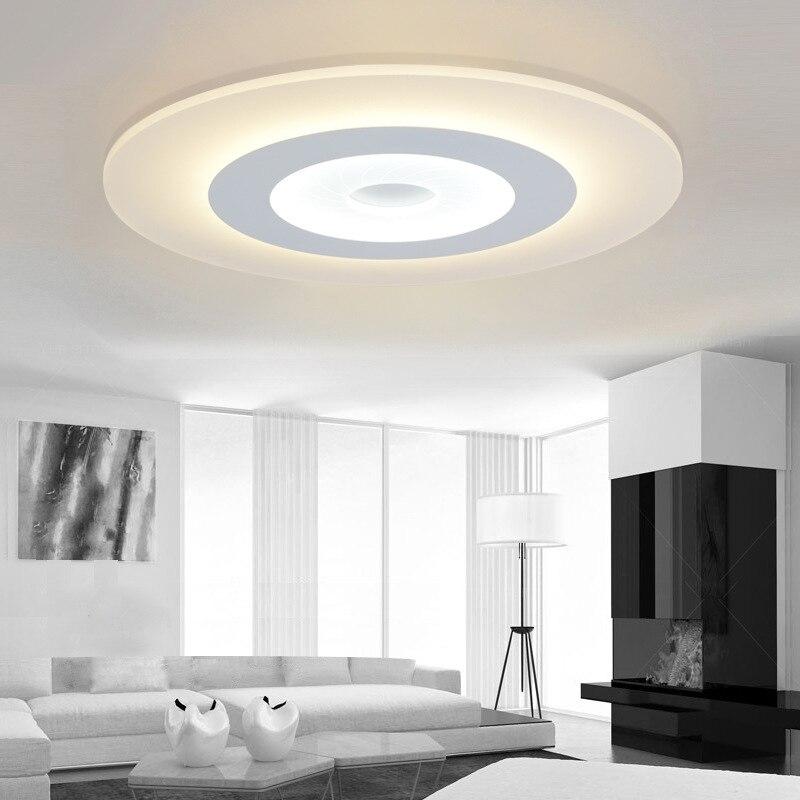 Nordique Simple rond acrylique Led plafonniers Lustre PMMA chambre Dimmable Led plafonnier nouveauté Led éclairage lumière IY108224
