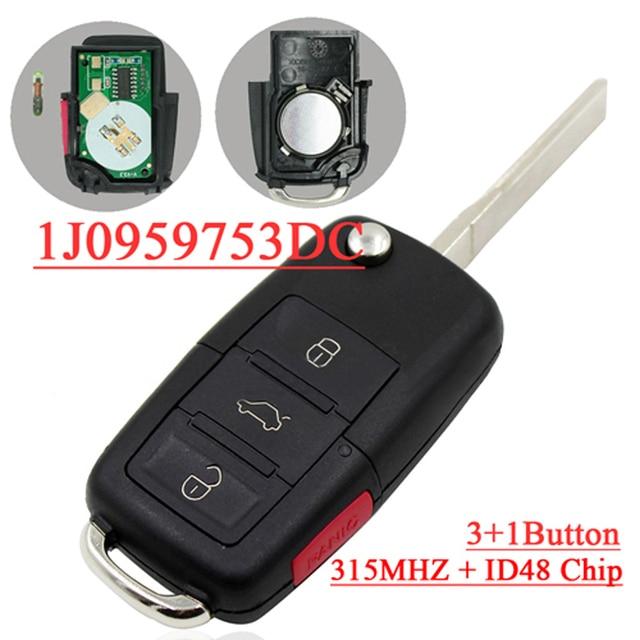 2002 Volkswagen Jetta Key: Aliexpress.com : Buy 4 (3+1) Buttons Remote Key For 2002
