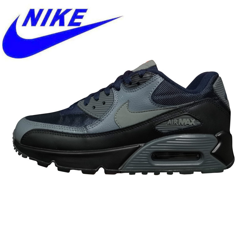 online retailer 22305 b3eb6 Nike Air Max 90 Men s Running Shoes, Shock Absorption Breathable Non slip  Wear resistant Lightweight, Dark Blue 537384 426-in Running Shoes from  Sports ...