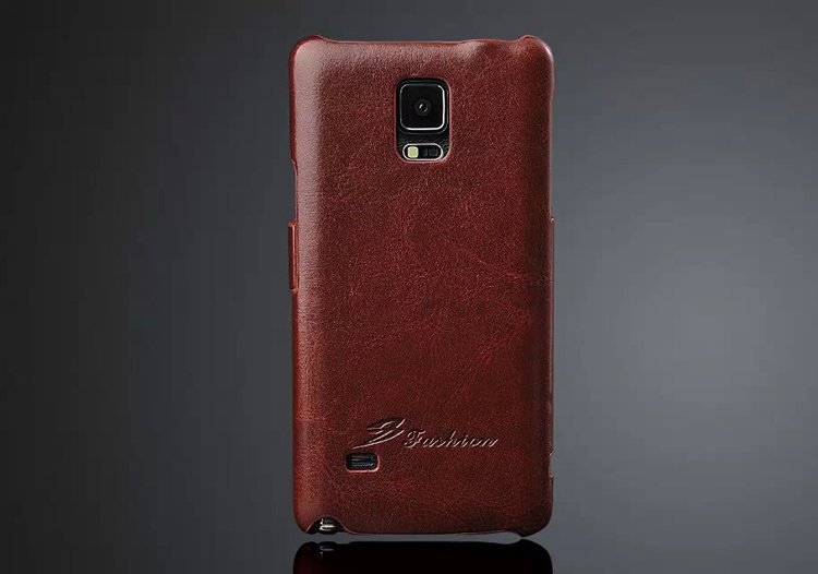newest 48f9f bba7d US $9.18 5% OFF New Fashion 100% Genuine Leather Flip Cover Case for  Samsung Galaxy Note 4 N9100 Note4 High Quality Brand Original Exquisite-in  Fitted ...