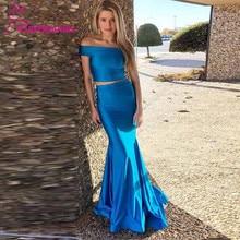 Two Pieces Evening Dress Long Mermaid Prom Party Dresses Robe De Soiree Abiye Gece Elbisesi