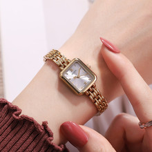 Women Stainless Steel Style Quartz Beautiful Bracelet Wristwatch Girl Fashion Casual Dress
