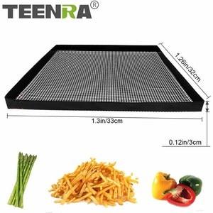 TEENRA 1 шт. черный тефлоновый противень антипригарный коврик для выпечки корзина для духовки лист для выпечки PTFE духовка чип корзина Инструменты для выпечки