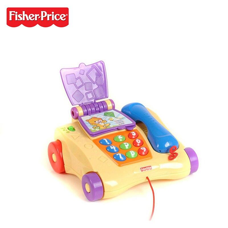 Fisher Price Marque Fisher jouet éducatif Bébé Apprentissage de La Musique Téléphone Bilingue Machine Drôle Enfants Plus En Plus De Jouets P8015