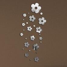 2017 nuevo 3d diy espejo de acrílico pegatinas de pared decoración para el hogar etiqueta más modernos de plástico paquete de nueve venta vinilos paredes envío gratis