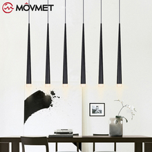 led Pendant Lamp Long Tube light Kitchen Island Dining Room Shop Bar Counter Decoration Cylinder Pipe Hanging Light Kitchen Lamp