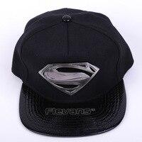 High Quality Adjustable 20176 New Fashion Unisex Baseball Caps Superman Logo Hip Hop Men Women Flat
