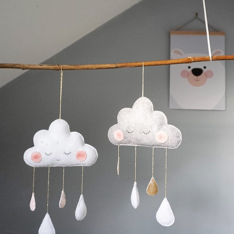 Props Rainbow Clouds Newborn Baby Bedroom Decor Hanging Toys Children Crib Hanging Decoration Kids Play Tent Decoration Tent