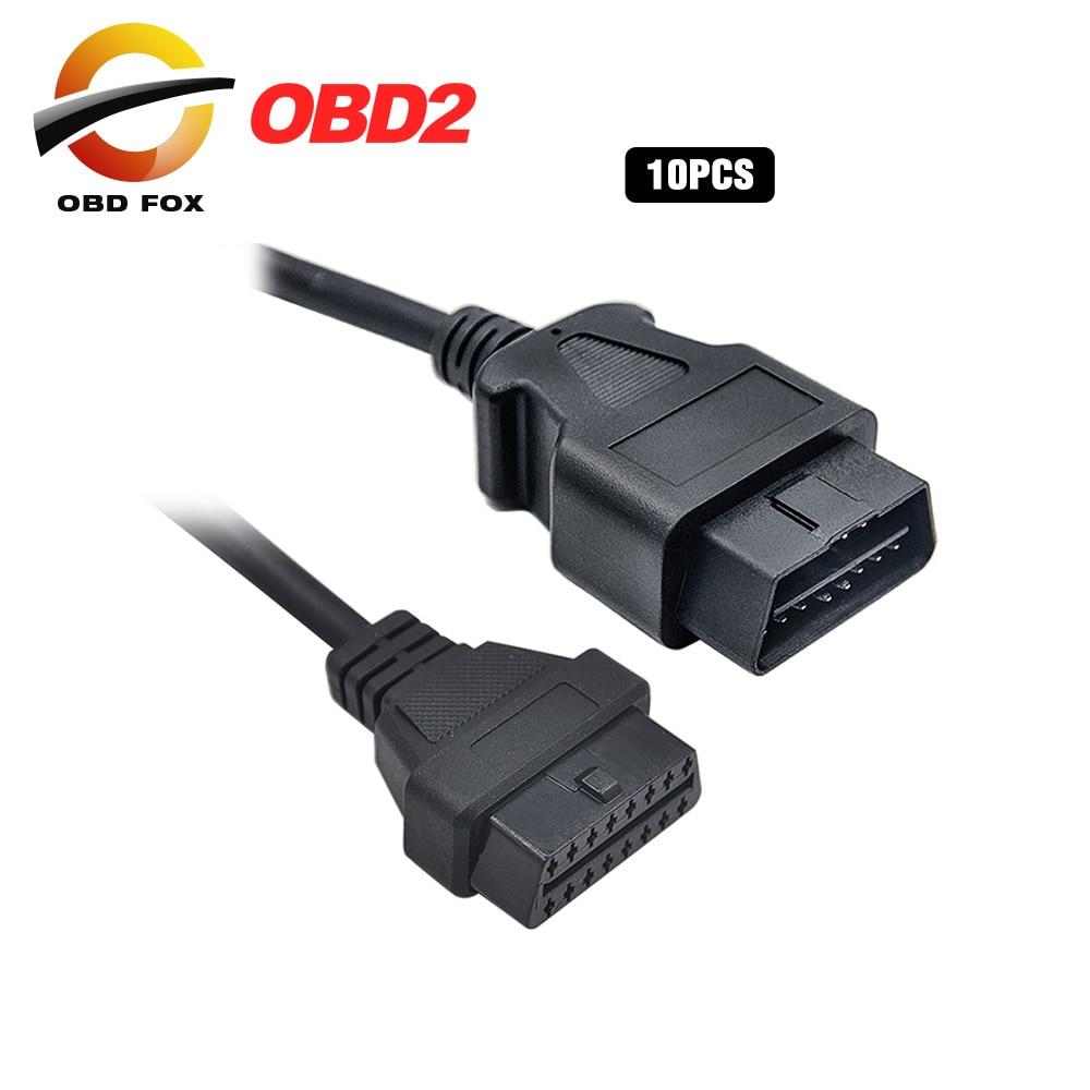 Цена за 10 шт./лот OBD2 16pin штекерным OBD2 16pin Женский кабель для J2534 Pass-Thru устройства бесплатная доставка