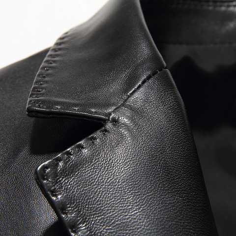 Gours Winter Genuine Leather Jacket for Men Fashion Brand Leather Suit Blazers Black Sheepskin Jackets and Coats New 4XL Islamabad