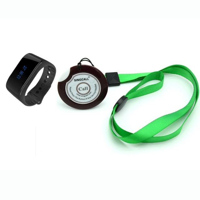Sistema de chamada de enfermeira sem fio singcall 1 nova enfermeira relógio de receber e 1 botão de chamada paciente ou pessoas mais velhas para o hospital