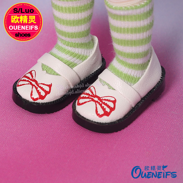OUENEIFS free shipping Princess Baby Shoes,leather shoes,for bjd doll Yosd body WX8-20 without wig or doll 3 color choose