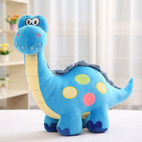 large 50cm cartoon sky blue dinosaur plush toy soft throw pillow birthday gift b0114