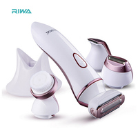 4In1 blade Washable lady Epilator shaver Razor Rechargeable Electric Hair Removal trimmer For women bikini body face underarm