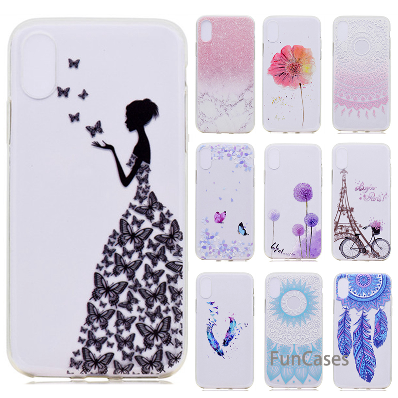 HEMASOLY Case For iPhone XS Max XR Silicone Case For iPhone XR Case  Transparent Soft TPU Flower Marble Back Cover 1e2a115e04a5e