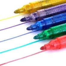 5 шт., волшебный блестящий маркер, ручка, яркий сверкающий цвет, рисунок, живопись, Канцелярский маркер, ручка