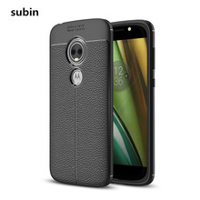 For Motorola Moto E5 Play Case Cover Silicone Soft TPU Brushed Carbon Fiber For