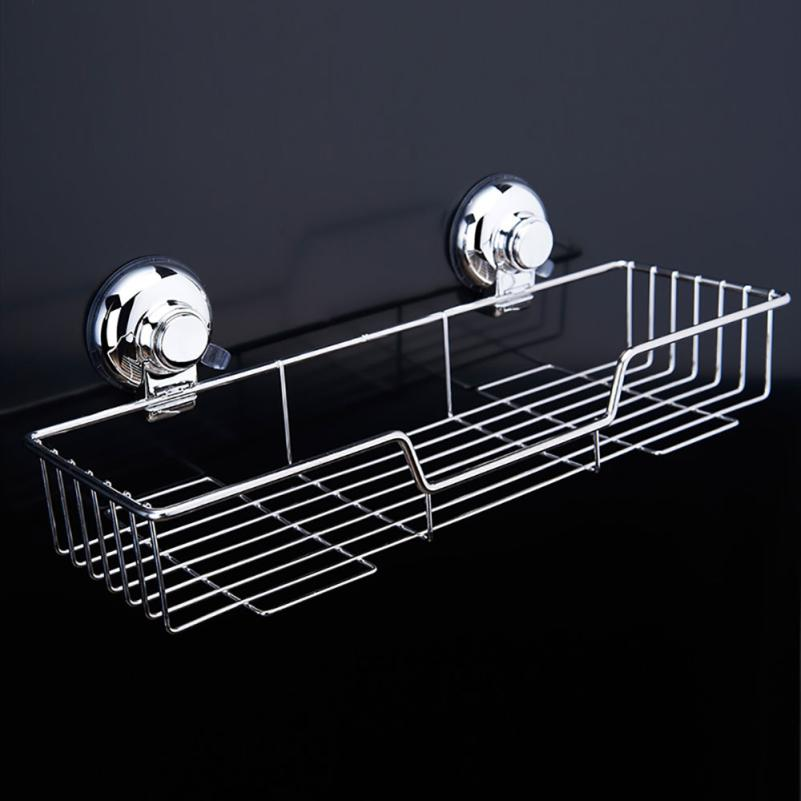 New Arrival Extra Wide Polished Stainless Steel Sucker Holder Rack For  Kitchen Condiment Shower Caddy Shampoo