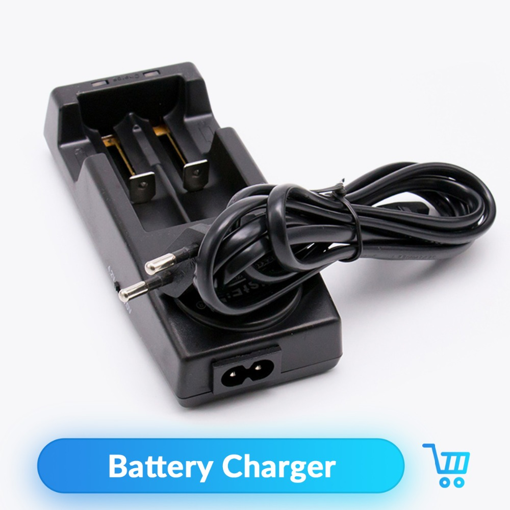 Volcanee 18650 Battery Charger Black 2 Slots AC 100V 240V For 18650 Battery Charging Rechargeable E Cigarette Vape Accessories
