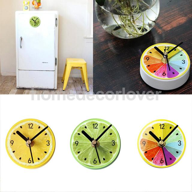 Wall Magnetic Suction Clock Battery Powered Fridge Bathroom Kitchen