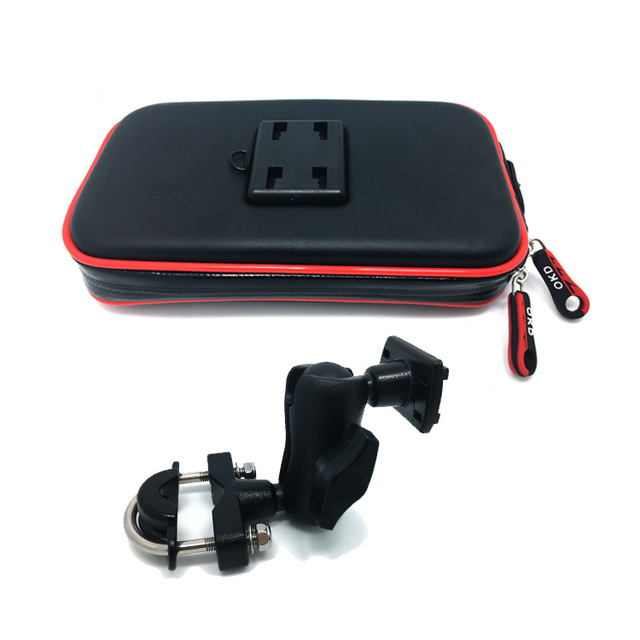 BuzzLee Universal Rail Mount Mobile Phone Holder Waterproof Zipper Case Motorcycle Bike Bicycle Handlebar Mount Holder Stand Bag