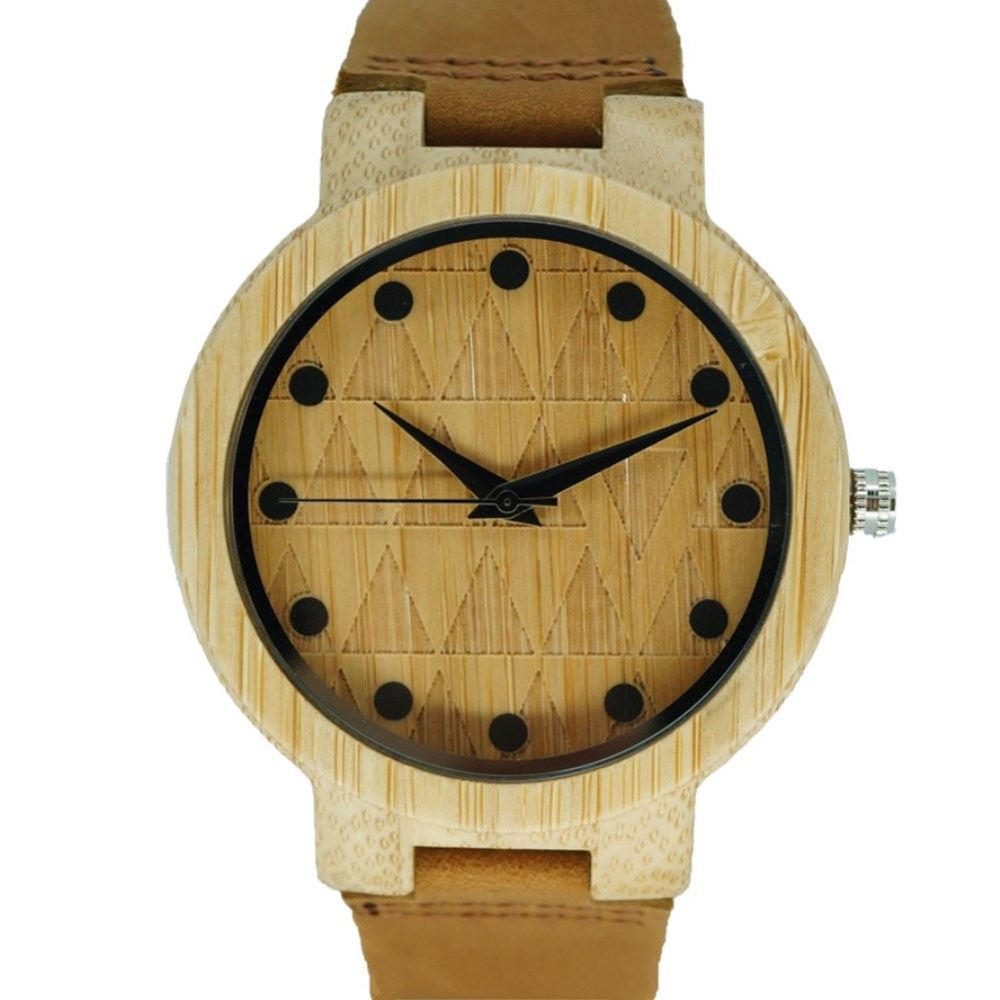 PENGNATATE Wood Watches Genuine Leather Hand Watch Natural Bamboo Wooden Wristwatches Real Leather Watchband Women Quartz Clock hand made mens wooden bamboo quartz watch black genuine leather watchband simple unique modern wristwatch gift for male female