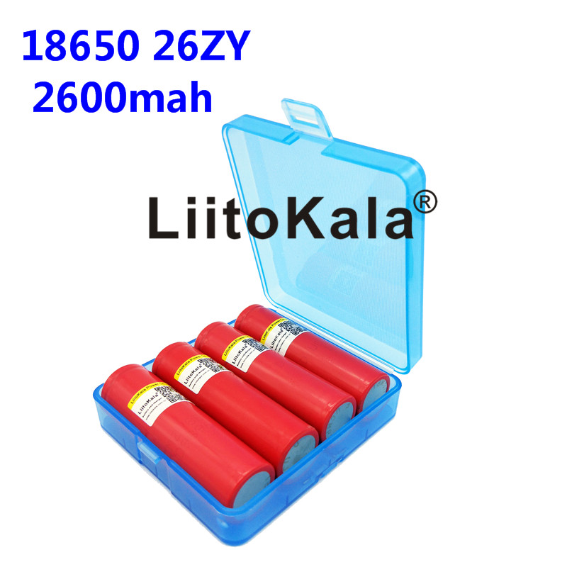 <font><b>4</b></font> new 100% original liitokala unids for Sanyo <font><b>18650</b></font> 2600 mAh li-ion rechargeable UR18650ZY btteries flashlight image