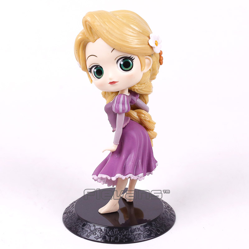 Q Posket Tangled Rapunzel PVC Figure Model Toy Princess Doll Gift for Girls 14cm alice q posket characters alice alice in wonderland pvc figure collectible model toy doll 15cm
