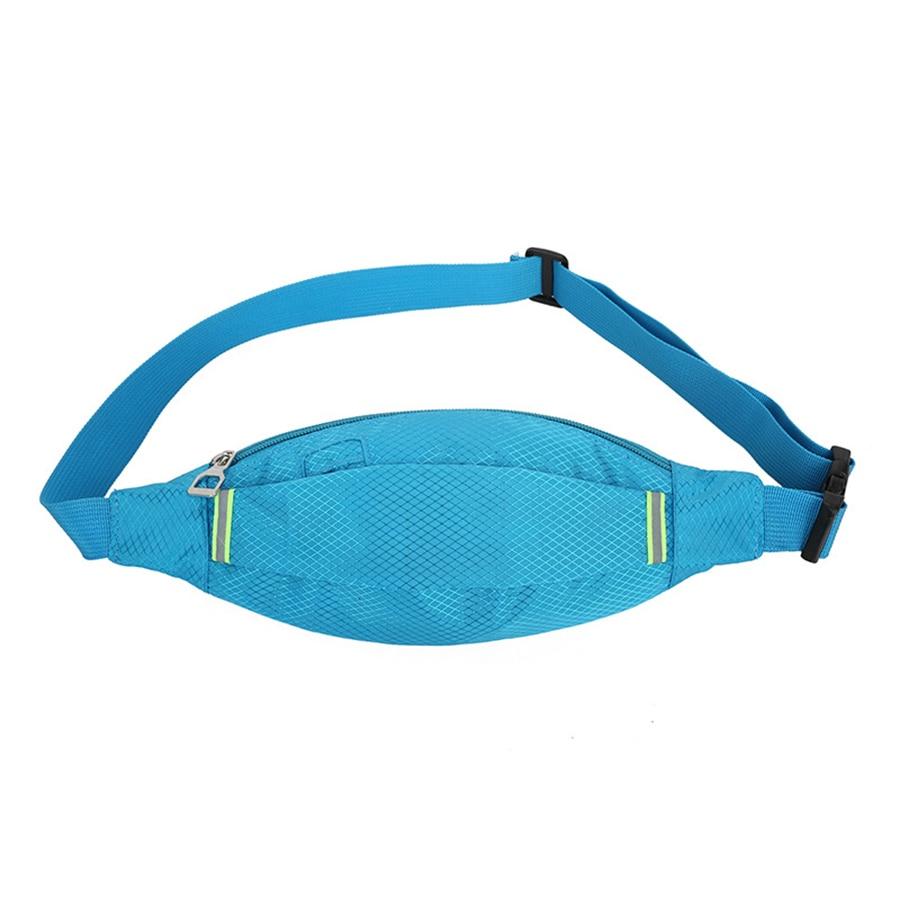 Luminous Portable  Waist Pack For Men Women Fanny Pack Bum Bag Hip Money Belt Mobile Phone Bag Close-fitting Belt