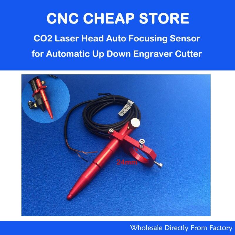 Qg Alunidum CO2 tête de découpe Laser Auto Focus capteur de mise au point pour automatique motorisé vers le bas Table Laser graveur Cutter