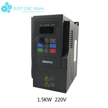 SD90-2S-1.5G 220V 1.5kw single in three out inverter VFD 3 Phase Output Frequency Converter Adjustable Speed цена