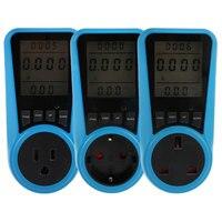 ЕС, США, Великобритания розетка цифровой Напряжение ваттметр мощность потребление Вт счетчик энергии кВтч AC230VAC120V электричество анализатор...