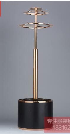 Étagères de stockage de ceinture en métal présentoir de ceinture à double rotation en or rose de haute qualité