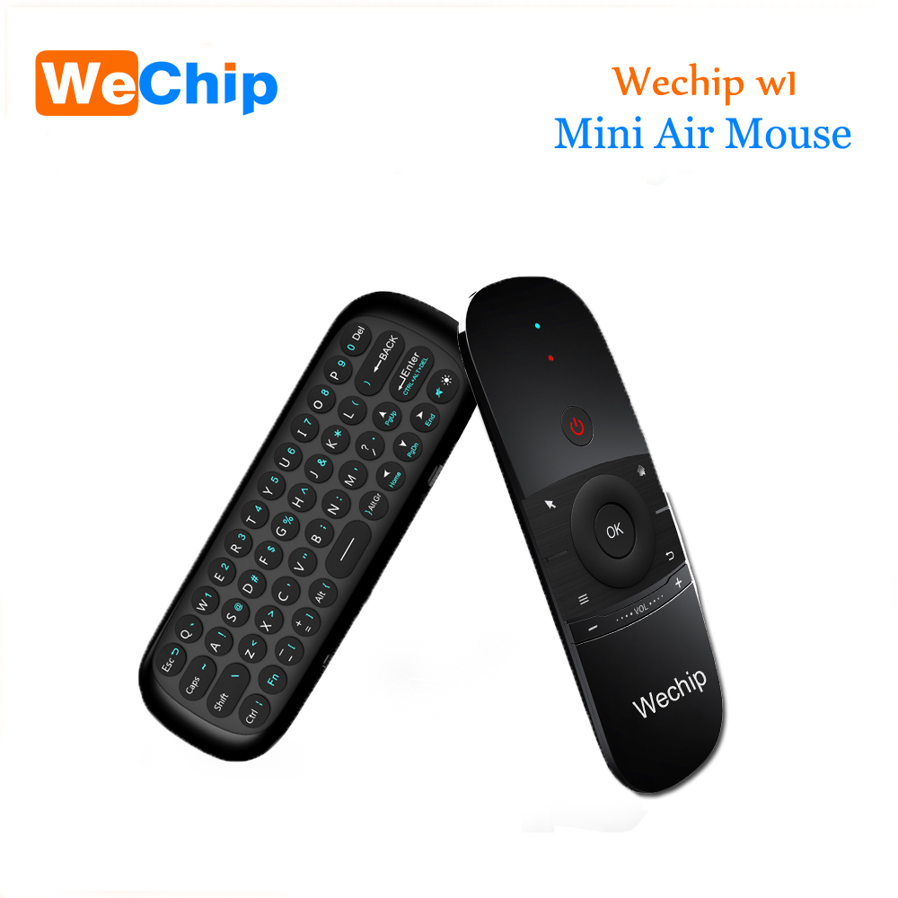 Original WeChip W1 Russian/English MINI Air Mouse Wireless Keyboard 2.4G Mention Sensing Fly Air Mouse For Android TV Box/PC/TV мужские часы luminox xs 7051 bo 1