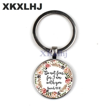 XKXLHJ 2018 Bible Verse Key Chains Be still And Know Quote Scripture Faith Jewelry Women Men Christian Gifts