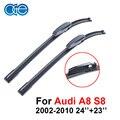 Oge limpa lâminas para audi a8 s8 2002-2010, fit windshield limpadores de borracha macia do braço, acessórios do carro