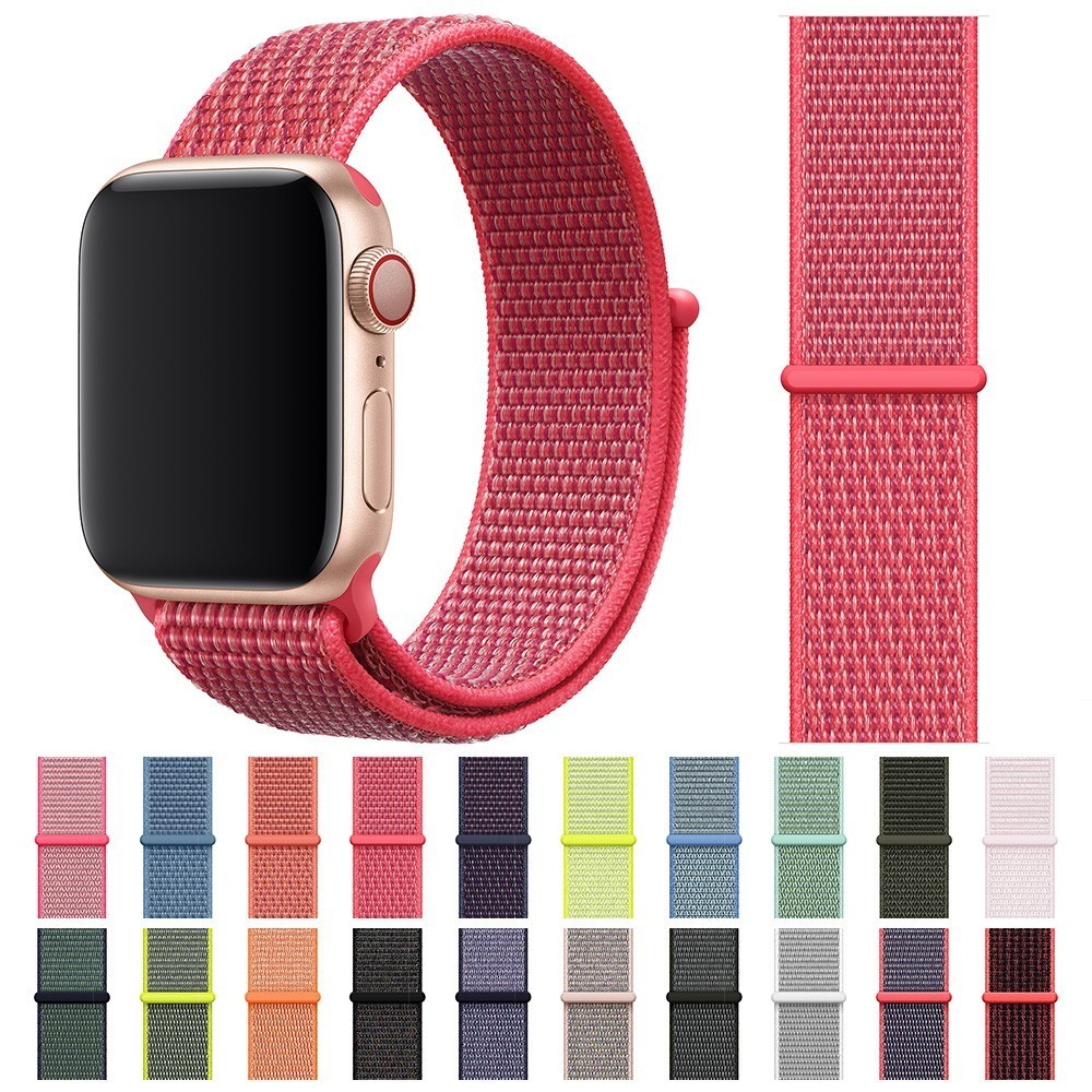 New High Quality Nylon Sport Loop Replacment for Apple Watch 44mm band Series 4 3 2 1 for iwatch 40mm Strap 38mm 42mm watchbands 20 colors sport band for apple watch band 44mm 40mm 38mm 42mm replacement watch strap for iwatch bands series 4 3 2 1