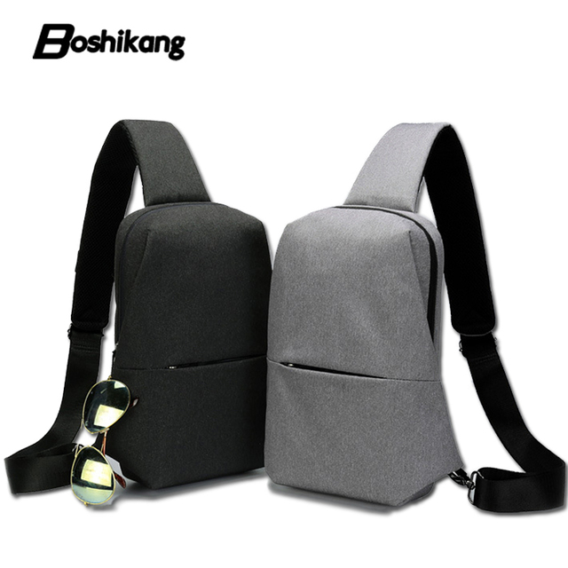 Boshikang Men Chest Bag Buckle Design Men Oxford Crossbody Bag Small Sling  Messenger Bag for iPad Cellphone Daypack 0be0ffd966