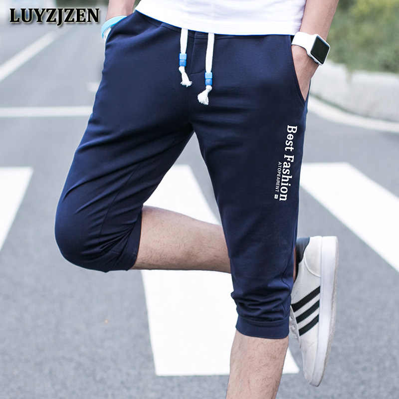 Mens Shorts Summer Calf-Length Pants Bodybuilding Fairy Tail Casual Joggers Workout Sporting Short Sweatpants Sportswear K150