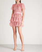 Tiered lace mini  dress