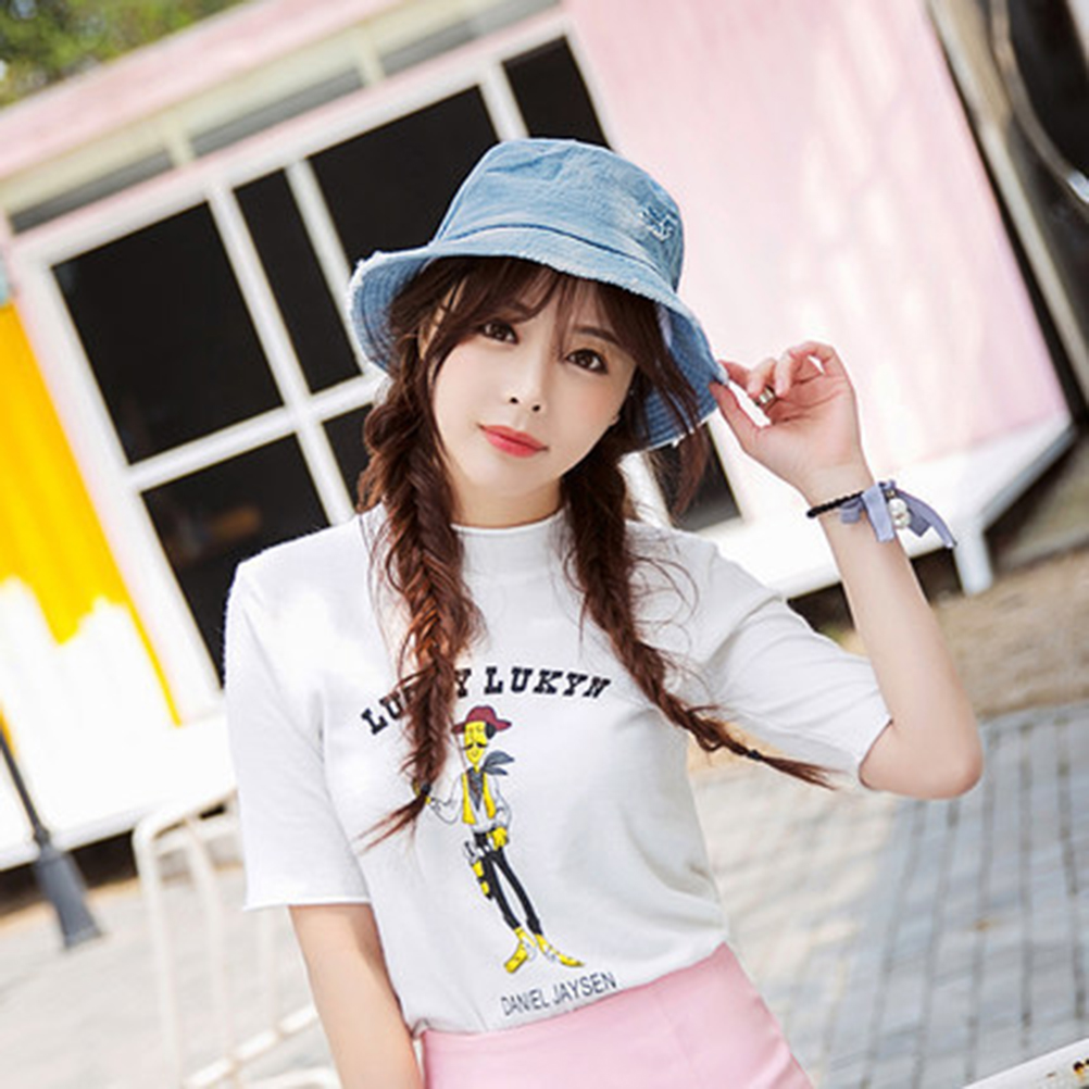 f70c22f5c526b Casual Denim Jean Fishing Bucket Hat Packable Cap-in Fishing Caps from  Sports   Entertainment on Aliexpress.com