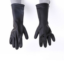 цена на 60cm industrial acid and alkali resistant latex gloves waterproof anti-skid anti-corrosion anti-chemical long protective gloves