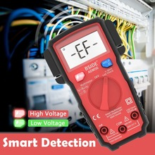 Smart Digital Multimeter BSIDE ADMS6 Auto Range 6000 Counts DC/AC Voltage Tester DMM Automatic ohm Hz V-Alert Test 100% new vc97 auto range digital multimeter dmm ac dc v a capacitance resistant temp free shipping