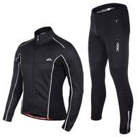 Long Sleeve Cycling Set 2018 Pro Team Mtb Bike Jersey Bicycle Wear Winter Thermal Fleece Cycling Jacket Men Waterproof Wind Coat
