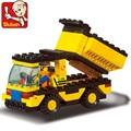New Arrival 93pcs/set DIY Building Blocks Toys Construction Vehicles Action Figure Toy Children Puzzle Educational Truck Toy