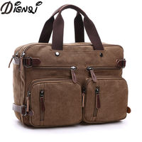 DIENQI Brand Multifunction Men Canvas Bag Casual Travel Bolsa Masculina Men S Crossbody Bag Men Messenger
